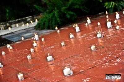 Candles on Spanish Monastery floor