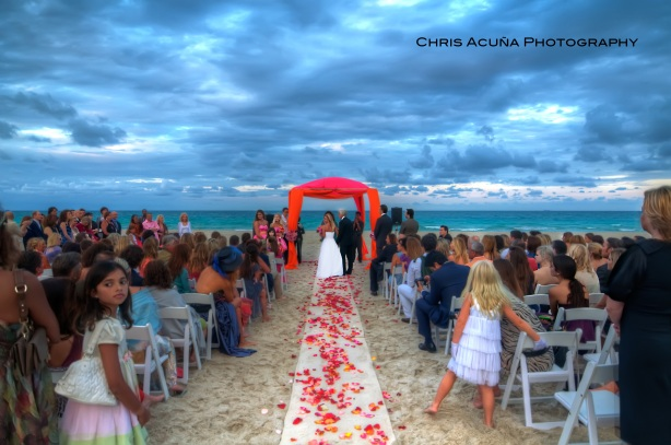 Miami Beach wedding ceremony by Joan Love Events