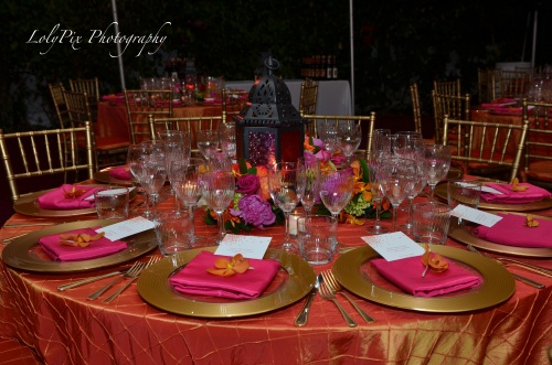 Wedding reception decor at Miami Beach wedding